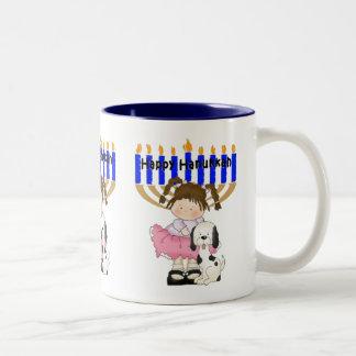 Happy Hanukkah Friends Two-Tone Coffee Mug