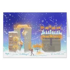 Happy Hanukkah From Hanukkahville Card at Zazzle