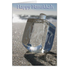 Happy Hanukkah From The Jersey Shore Card at Zazzle