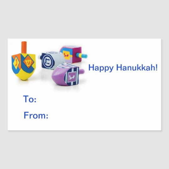 happy hanukkah gift label stickers zazzle com