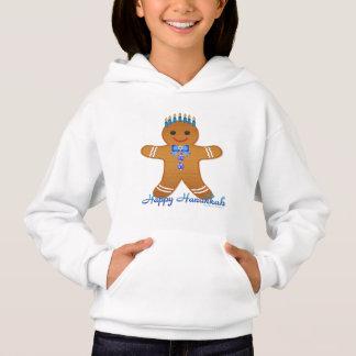 Happy Hanukkah Gingerbread Man Menorah Hoodie