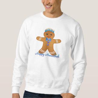 Happy Hanukkah Gingerbread Man Menorah Sweatshirt
