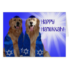 Happy Hanukkah Glow Card at Zazzle