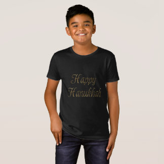 Happy Hanukkah Gold Typography Elegant Chanukah T-Shirt