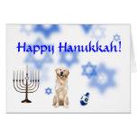 Happy Hanukkah Golden Retriever Greeting Card
