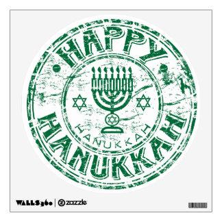 Happy Hanukkah Green Wall Sticker
