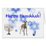 Happy Hanukkah Greyhound Card