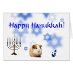Happy Hanukkah Guinea Pig card