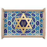 Happy Hanukkah. Hanukkah Gift Serving Tray