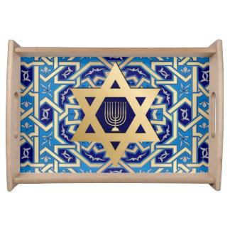 Happy Hanukkah. Hanukkah Gift Serving Tray
