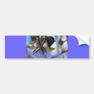 happy hanukkah happy chanukah bird junco bumper sticker