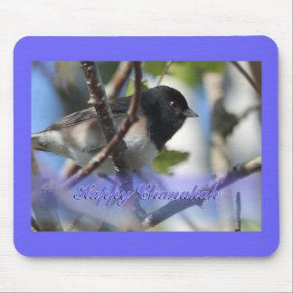 happy hanukkah happy chanukah bird junco mouse pads