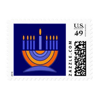 Happy Hanukkah /  Happy Chanukah Postage Stamps