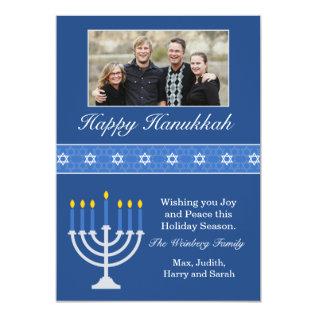 Happy Hanukkah Holiday Card at Zazzle