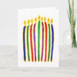 """Happy Hanukkah Holiday Card<br><div class=""""desc"""">(multiple products selected) Various products from cards to handbags and mugs with delightful,  colorful,  original Hanukkah images on them; all perfect for Hanukkah cards and gifts; see all under our Jewish Holiday Judaica line at: www.zazzle.com/inthepresent* or in Au: www.zazzle.com.au/inthepresent</div>"""