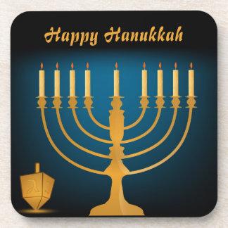 Happy Hanukkah Holiday Drink Coaster