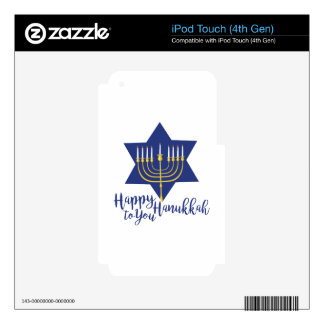 Happy Hanukkah iPod Touch 4G Decal