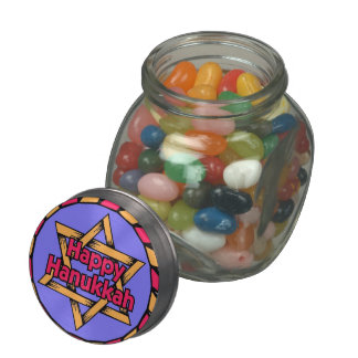 Happy Hanukkah Jelly Belly™ Glass Jar