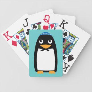 Happy Hanukkah Jewish Penguin Yarmulke Bicycle Playing Cards