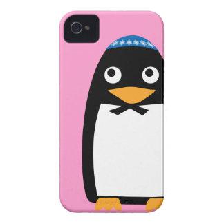Happy Hanukkah Jewish Penguin Yarmulke iPhone 4 Case-Mate Case