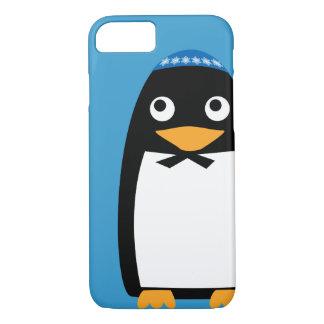 Happy Hanukkah Jewish Penguin Yarmulke iPhone 8/7 Case