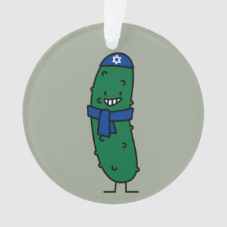 Happy Hanukkah Jewish Pickle Pickles Ornament