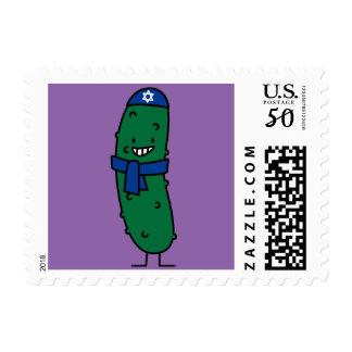Happy Hanukkah Jewish Pickle Pickles Postage