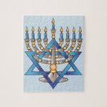 """Happy Hanukkah Jigsaw Puzzle<br><div class=""""desc"""">A wonderful gift to give during hanukkah to a child,  it's 110 pieces and comes in a beautiful gift box.</div>"""
