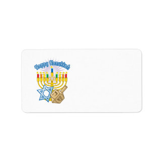 Happy Hanukkah Label