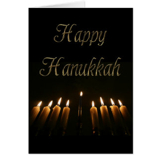 Happy Hanukkah Lamp Menorah Lights Candles Card