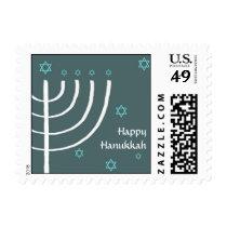 Happy Hanukkah mailing stamp