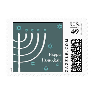 Happy Hanukkah mailing stamp