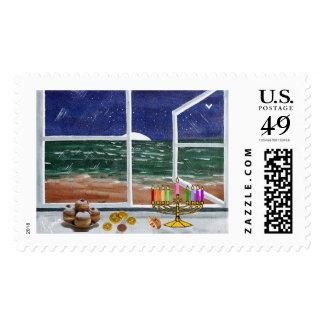 Happy Hanukkah..........Mauna La'i..House of Peace Stamp