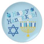 Happy Hanukkah Melamine Plate