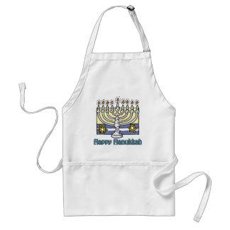 Happy Hanukkah Menorah Apron