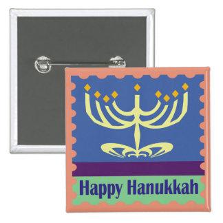 Happy Hanukkah Menorah Buttons