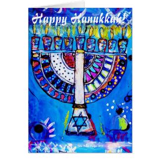 Happy Hanukkah! Menorah Card