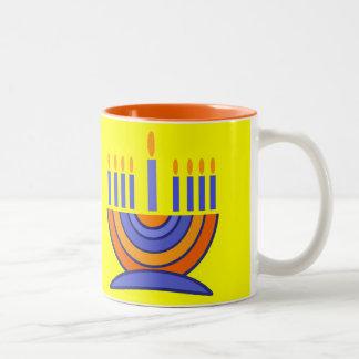 Happy Hanukkah! Menorah Design Gift Mug