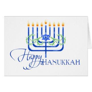 Happy Hanukkah Menorah Festival of Lights Candles Card