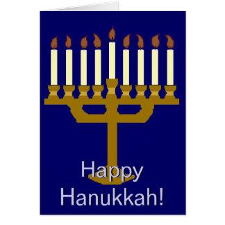 Happy Hanukkah (Menorah) Greeting Card