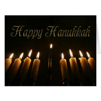 Happy Hanukkah Menorah Lights Candles Card