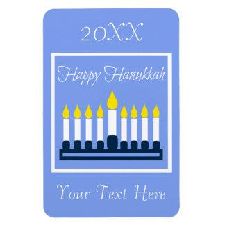 Happy Hanukkah Menorah Magnet