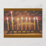 "Happy Hanukkah Menorah Post Card<br><div class=""desc"">Can't visit them this Hanukkah? Send them this lovely Hanukkah Post Card.</div>"