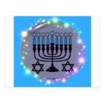 Happy Hanukkah / Menorah Postcard