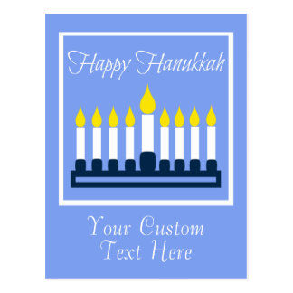 Happy Hanukkah Menorah Postcard
