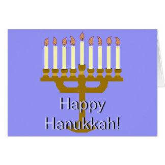 Happy Hanukkah (Menorah) Stationery Note Card