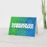 "Happy Hanukkah Merry Christmas Card<br><div class=""desc"">This is one of our many Hanukkah and Hanukkah/Christmas cards. They are also available as ecards at www.OurJewishCommunity.org</div>"