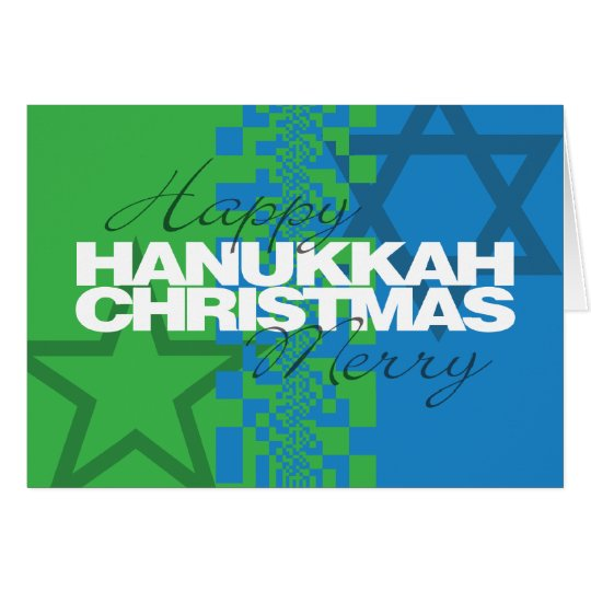 Happy Hanukkah Merry Christmas Card | Zazzle.com
