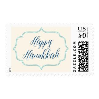 Happy Hanukkah Modern Postage