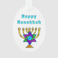 Happy Hanukkah Ornament at Zazzle